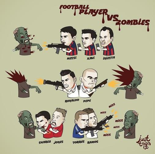 football players vs zombies